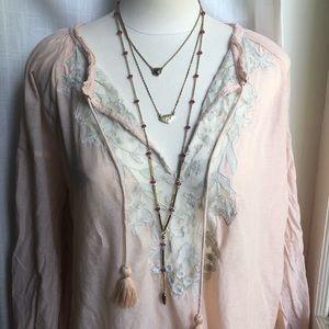 ⭐️Lucky Brand layered, triple strand necklace,boho